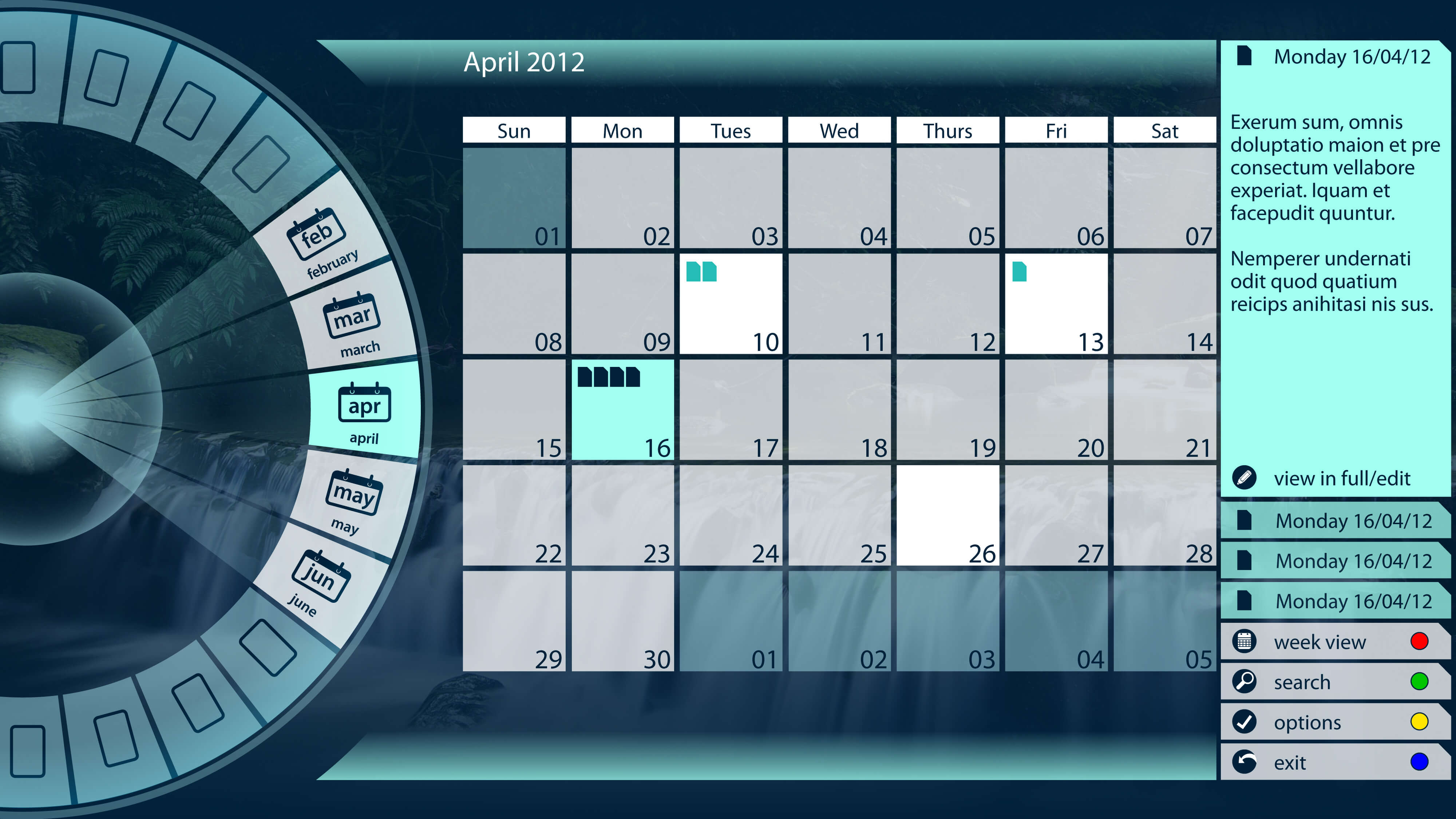Spinnaker Calendar
